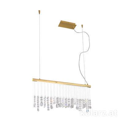 2104.85.3 24 Carat Gold, Width 83cm, Height 44cm, Min. height 53cm, Max. height 250cm, 1 light, LED