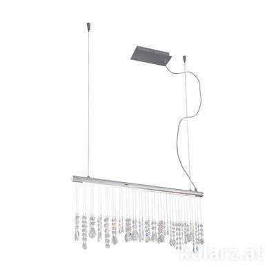 2104.85.5.KoT Chrome, Width 83cm, Height 44cm, Min. height 53cm, Max. height 250cm, 1 light, LED