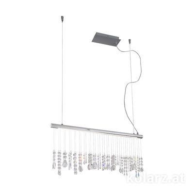 2104.85.5 Chrome, Width 83cm, Height 44cm, Min. height 53cm, Max. height 250cm, 1 light, LED