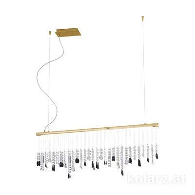 2104.87.3.STR JET 24 Carat Gold, Width 120cm, Height 44cm, Min. height 53cm, Max. height 250cm, 1 light, LED