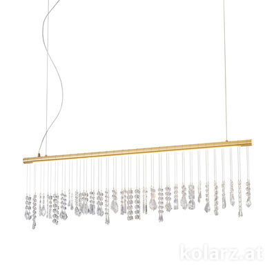 2104.87.3 24 Carat Gold, Width 120cm, Height 44cm, Min. height 53cm, Max. height 250cm, 1 light, LED