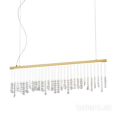 2104.87.3 24 Carat Gold, Width 120cm, Height 44cm, Min. height 53cm, Max. height 250cm, 1 light, LED