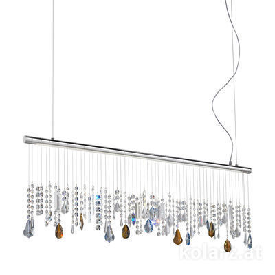 2104.87.5.ETBS Chrome, Width 120cm, Height 44cm, Min. height 53cm, Max. height 250cm, 1 light, LED