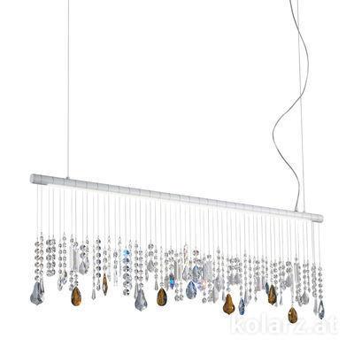2104.87.Wm.ETBS White Matt, Width 120cm, Height 44cm, Min. height 53cm, Max. height 250cm, 1 light, LED