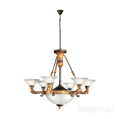 215.86+3 Gold/Nickel, Ø100cm, Height 82cm, Min. height 102cm, Max. height 247cm, 9 lights, E27