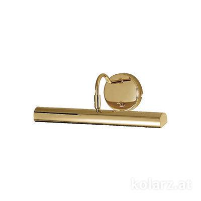 2237.62.7 Aur de 24 de carate, Latime 35cm, Inaltime 12cm, 2 becuri, G9