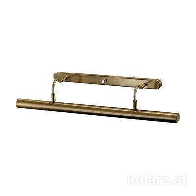2237.64.4 Antique Brass, Width 70cm, Height 12cm, 4 lights, G9