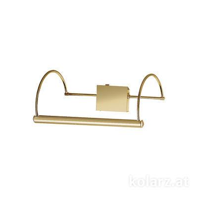 2242.62.7 24 Karat Gold, Breite 39cm, Höhe 16cm, 2-flammig, G9