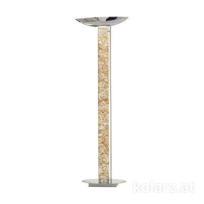 2252.41.5.Me.Ag Chrom, Silber, Länge 60cm, Breite 26cm, Höhe 185cm, 4-flammig, LED dimmbar