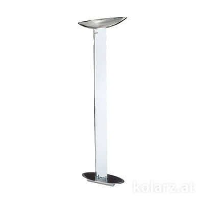 2252.41.5 Chrome, Transparent, Length 60cm, Width 26cm, Height 185cm, 4 lights, LED dimmable