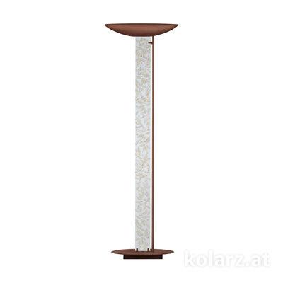 2252.41.Co.Li.WA Corten, Länge 60cm, Breite 26cm, Höhe 185cm, 4-flammig, LED dimmbar