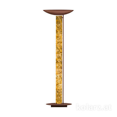 2252.41.Co.Me.Au Corten, Length 60cm, Width 26cm, Height 185cm, 4 lights, LED dimmable