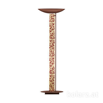 2252.41.Co.Tc.R Corten, Length 60cm, Width 26cm, Height 185cm, 4 lights, LED dimmable