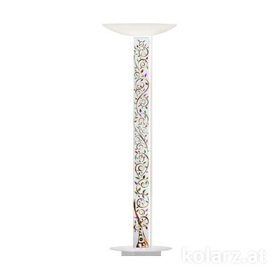 2252.41.Wm.Al.Mt White Matt, Length 60cm, Width 26cm, Height 185cm, 4 lights, LED dimmable