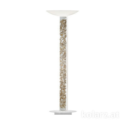 2252.41.Wm.Li.SA White Matt, Silver, Length 60cm, Width 26cm, Height 185cm, 4 lights, LED dimmable