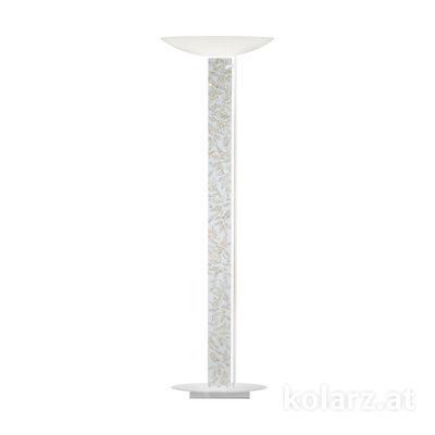 2252.41.Wm.Li.WA Weiß matt, Länge 60cm, Breite 26cm, Höhe 185cm, 4-flammig, LED dimmbar