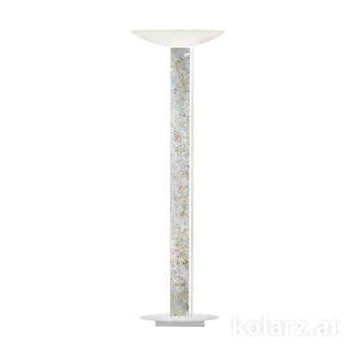 2252.41.Wm.Me.Ag White Matt, Length 60cm, Width 26cm, Height 185cm, 4 lights, LED dimmable