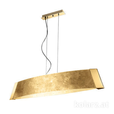 2295.31L.3.Au 24 Carat Gold, Gold, Width 90cm, Height 24cm, Min. height 30cm, Max. height 259cm, 1 light, LED dimmable