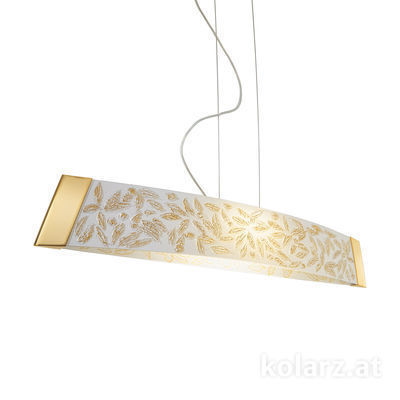 2295.31L.3/li10 24 Carat Gold, Width 90cm, Height 24cm, Min. height 30cm, Max. height 259cm, 1 light, LED dimmable