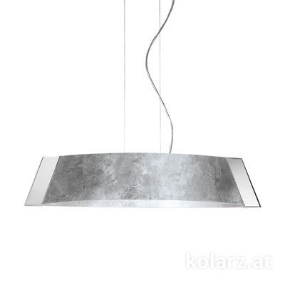 2295.31L.5.Ag Chrome, Silver, Width 90cm, Height 24cm, Min. height 30cm, Max. height 259cm, 1 light, LED dimmable