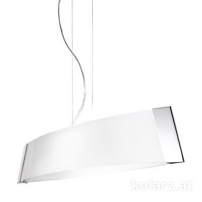 2295.31L.5.W Chrome, White, Width 90cm, Height 24cm, Min. height 30cm, Max. height 259cm, 1 light, LED dimmable