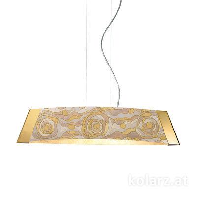 2295.31S.3/aq21 24 Karat Gold, Länge 70cm, Höhe 20cm, Min. Höhe 20cm, Max. Höhe 250cm, 1-flammig, LED