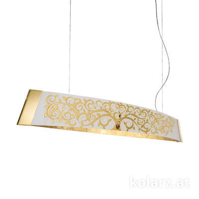 2295.32.3/al30 24 Carat Gold, Width 130cm, Height 24cm, Min. height 30cm, Max. height 259cm, 2 lights, LED dimmable