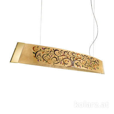 2295.32.3/al99 24 Carat Gold, Width 130cm, Height 24cm, Min. height 30cm, Max. height 259cm, 2 lights, LED dimmable