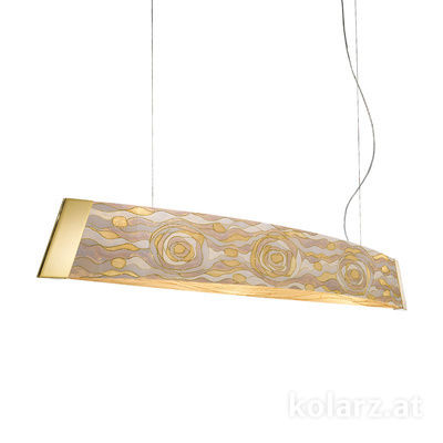 2295.32.3/aq21 24 Carat Gold, Width 130cm, Height 24cm, Min. height 30cm, Max. height 259cm, 2 lights, LED dimmable