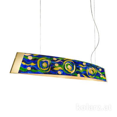 2295.32.3/aq70 24 Carat Gold, Width 130cm, Height 24cm, Min. height 30cm, Max. height 259cm, 2 lights, LED dimmable