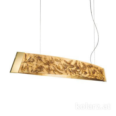 2295.32.3/li30 24 Carat Gold, Width 130cm, Height 24cm, Min. height 30cm, Max. height 259cm, 2 lights, LED dimmable