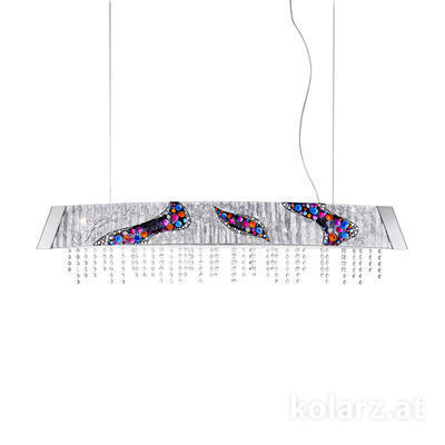 2295.32.5/ki50 Chrome, Width 130cm, Height 24cm, Min. height 30cm, Max. height 259cm, 2 lights, LED dimmable