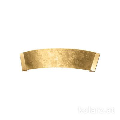 2295.62.3.Au 24 Carat Gold, Gold, Width 41cm, Height 11cm, 2 lights, G9