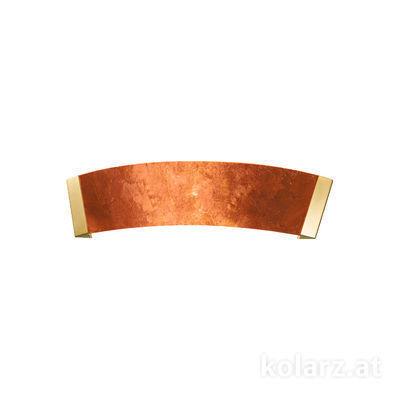 2295.62.3.Cu 24 Karat Gold, Kupfer, Breite 41cm, Höhe 11cm, 2-flammig, G9