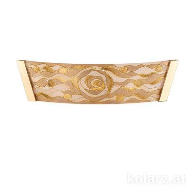 2295.62.3/aq21 24 Carat Gold, Width 41cm, Height 11cm, 2 lights, G9