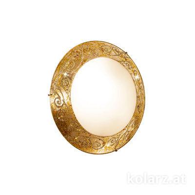 2331.U12.3 24 Carat Gold, Ø30cm, Height 8cm, Max. height 8cm, 1 light, LED dimmable