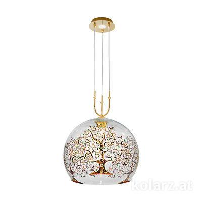 2392.31+1XL.3.Al.Mt 24 Carat Gold, Ø50cm, Min. height 60cm, Max. height 200cm, 1+1 lights, E27+LED