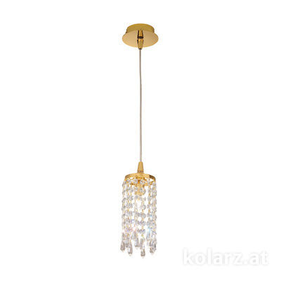 262.31.3 24 Carat Gold, Ø9cm, Height 24cm, Min. height 30cm, Max. height 127cm, 1 light, G9