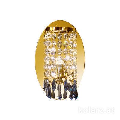262.61.3.SpTSsB 24 Carat Gold, Ø15cm, Width 15cm, Height 23cm, 1 light, G9
