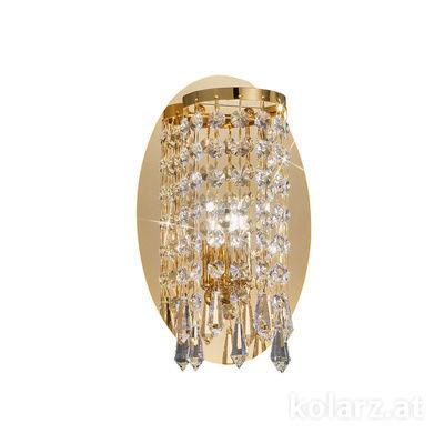 262.61.3 24 Carat Gold, Width 15cm, Height 23cm, 1 light, G9