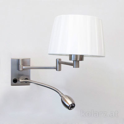 264.61.6LED Nickel, Width 23cm, Min. height 25cm, 2 lights, E27+LED