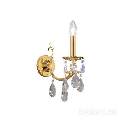 3003.61.3.KoT 24 Carat Gold, Width 10.5cm, Height 20cm, 1 light, E14
