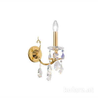 3003.61.3.KoT/KpT 24 Carat Gold, Width 10.5cm, Height 20cm, 1 light, E14