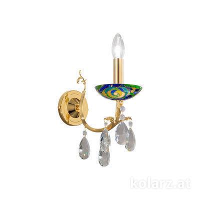 3003.61.3.KoT/aq70 24 Carat Gold, Width 10.5cm, Height 20cm, 1 light, E14