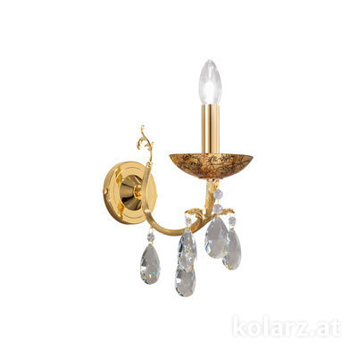 3003.61.3.KoT/me30 24 Carat Gold, Width 10.5cm, Height 20cm, 1 light, E14