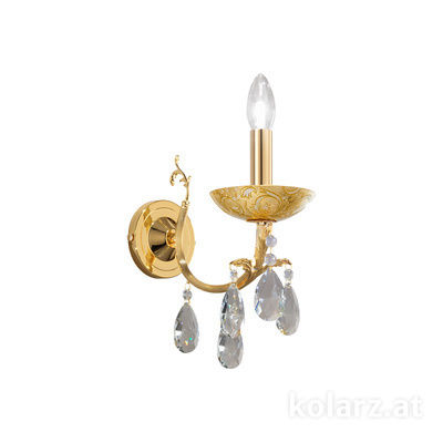 3003.61.3.KoT/tc10 24 Carat Gold, Width 10.5cm, Height 20cm, 1 light, E14