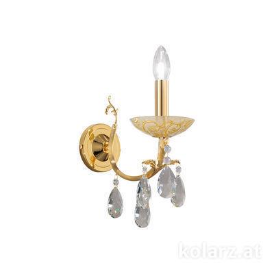 3003.61.3.KoT/tc30 24 Carat Gold, Width 10.5cm, Height 20cm, 1 light, E14