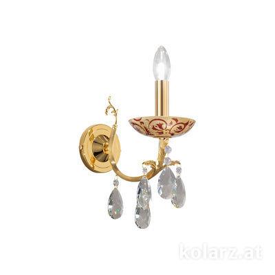 3003.61.3.KoT/tc40 24 Carat Gold, Width 10.5cm, Height 20cm, 1 light, E14