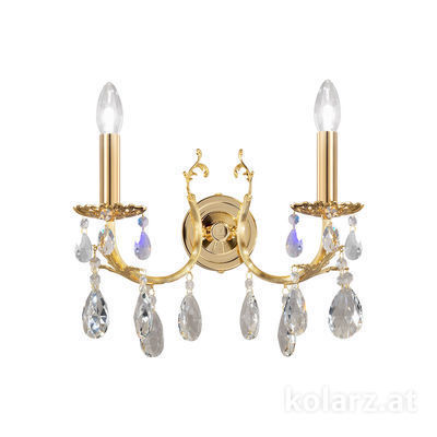 3003.62.3.KoT 24 Carat Gold, Width 35cm, Height 20cm, 2 lights, E14