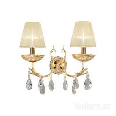 3003.62.3.KoT/aq21 24 Carat Gold, Width 35cm, Height 20cm, 2 lights, E14